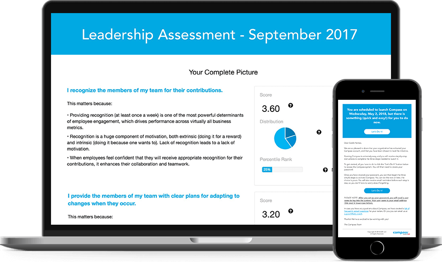 Compass Powered by ADP dashboard and mobile app.